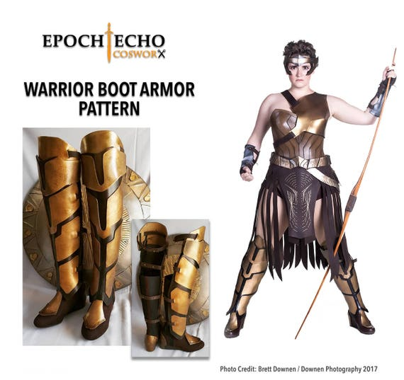 Amazon Warrior Boot Cover / Armor Pattern Digital Download