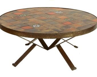 Vintage/Retro Danish/Scandinavian Tiled Coffee Table