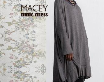 Macey Tunic  Dress Sewing Pattern  TG-A7090 by Tina Givens Lagenlook Style- Layering! Sizes XS- 2X- Phenomenal!