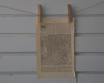 1894 vintage Rotterdam kaart