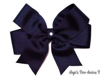 NAVY Tails Down Hair Bow, Available in 4 sizes, small, medium, large, extra large