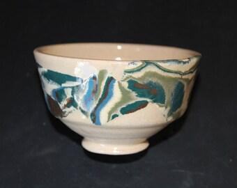Ceramic tea  cup 15 Mokume gane