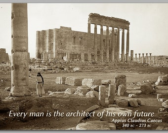 """GRADUATION CARD - """"Every man is the architect of his own future""""  Also available as a Greeting Card, Print or Quote Block (CPIC2013035)"""