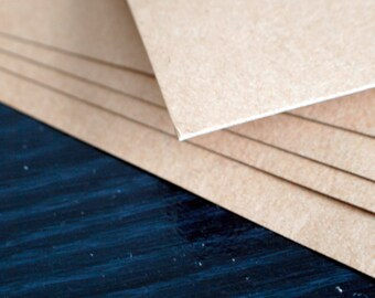 "10 pcs Brown kraft chip board 0.022 thickness size 8 1/2"" x 11"""