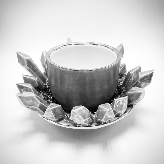 Design-Your-Own: Crystal Cup and Saucer