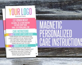 Personalized Magnetic Care Instructions! CI5