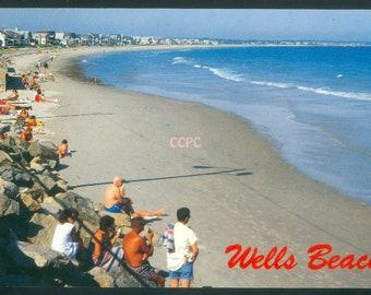 Wells Beach South Coast of Maine Photo Postcard (31617)