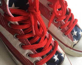 Converse Chuck Taylor American Flag Made in USA 9.5 4th of July Sneakers Shoes