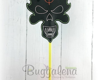 Monster One Target BuggaSign Embroidery Design
