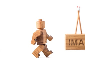 Wooden decor Lego man // Shelf decor inspired by popular character // FREE Shipping world wide
