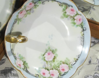 Vanity dish,French Limoges porcelain dish T&V
