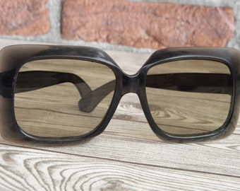 Vintage Katowice Sunglasses 70s, Retro Poland Sunglasses,Old Poland Glasses, Vintage Katowice Figaro Gray Sunglasses,Vintage Gray Sunglasses