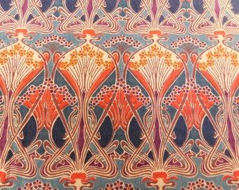 Liberty plus cotton skirt in Ianthe print vintage patch pocket Art Nouveau print Summer cotton lawn unlined