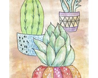Cactus Print / Succulent Wall Art / Cacti Print / Cactalicious / Minnie&Lou Art Print / Cactus Art / Home Decor / Prints / Desert Wall Art