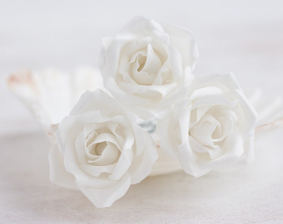 71 weiße Blume Haarnadeln Haarschmuck Rose Haarnadeln
