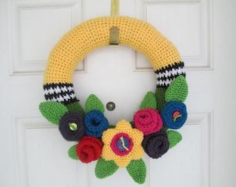 Summer Floral Wreath Crochet Pattern