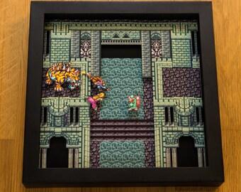 Secret of Mana (SNES) Shadowbox - Spikey Tiger