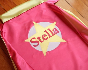 Custom Superhero Cape Personalized Child Cape by Little Hero Cape - Star with Name