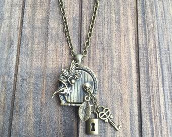 Fairy locket necklace, fairy tale jewelry, antique brass jewelry, fairy jewelry, women jewelry, handmade jewelry