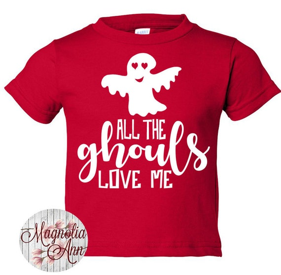 All The Ghouls Love Me, Ghost, Halloween, Toddler T-Shirt in 11 Different Colors in Sizes 2T-5/6
