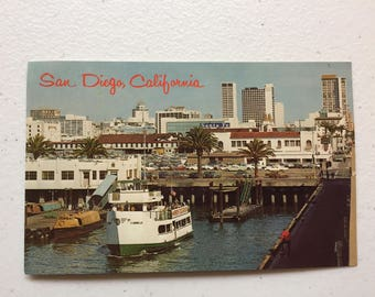 vintage San Diego, California postcards