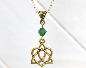 Celtic necklace. Celtic jewelry, Celtic heart, bridesmaid gift, Confirmation gift.  Celtic knot,  Irish necklace. Irish jewelry