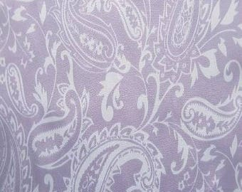 "PRECUT FAT QUARTER 30""X36"" Purple Paisley Silky Satin by Shannon Fabrics"