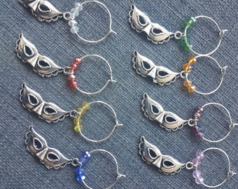 Wine Glass Charms - Venetian Mask