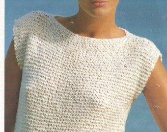 Easy Garter Stitch Knitting Pattern Girls/Ladies/Women's ...