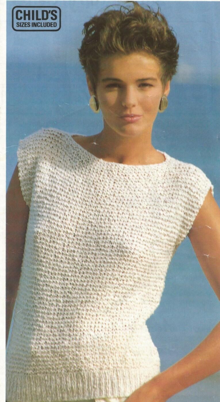Easy Knitting Pattern Girls / Ladies Top in Garter Stitch