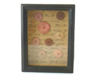 Button Shadowbox, Vintage Two's Company Button Shadow Box