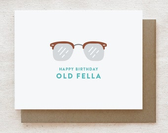 Funny Birthday Card for Him, Funny birthday card dad, Birthday card brother, Birthday card for husband, Birthday card boyfriend - Old Fella