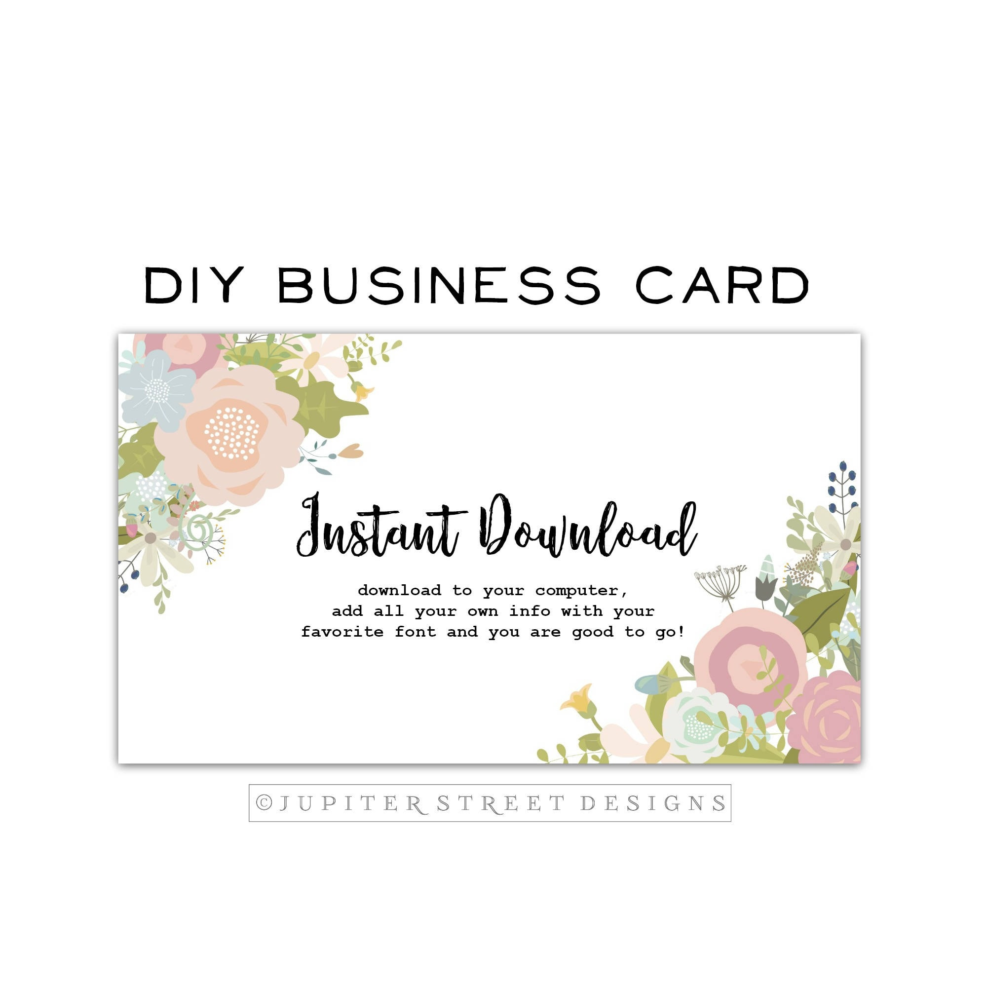 DIY Business Card-Flower Business Card-Business Card