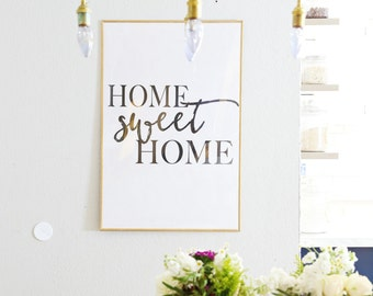 DOWNLOADABLE Home Sweet Home oversized artwork print wall decor art