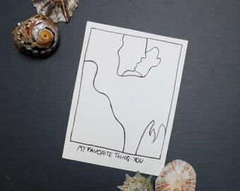 My favorite thing Postcard