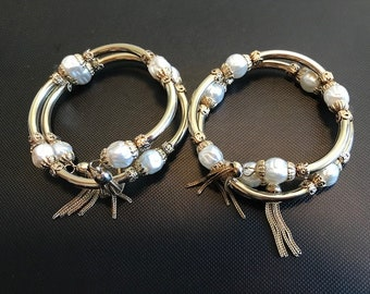 Unsigned Miriam Haskell Wrap Bracelets