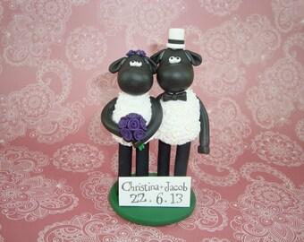 Custom Handmade Black Sheep Cake Topper