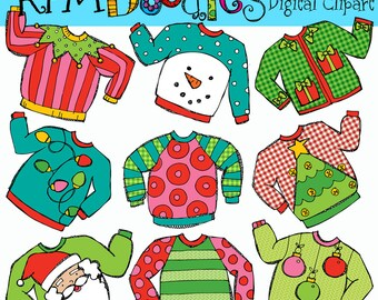 KPM Ugly Sweaters Digital Clip art clipart