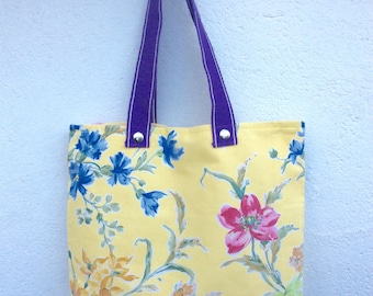 Handmade Tote bag from floral vintage Laura Ashley fabric