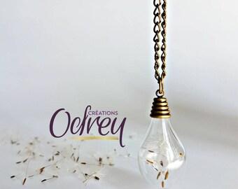 FREE shipping top seller • • • • Dandelions •Accessoire mirror • lucky terrarium necklace dandelion forever pendant