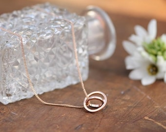 Rose Gold Petite Sphere Necklace