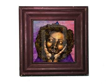 Portrait Illustration Print, Portrait Print, Portrait Illustration, African American Art,