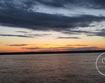Sunset on the Saint Lawrence