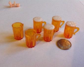 Dollhouse Miniature Beer mugs