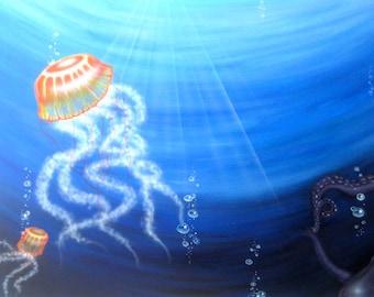"Acrylic painting "" ocean secret """