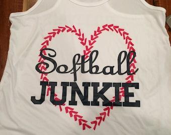 Softball Junkie racerback tank