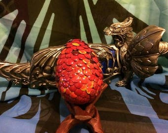 Fantasy Fire Element Dragon Egg