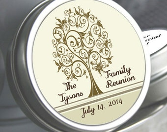 """12 Family Reunion Mint Tins - Tree of Life - - Select the quantity you need below in the """"Pricing & Quantity"""" option tab"""