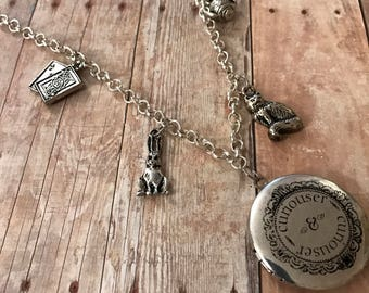 Alice in Wonderland Necklace/ Alice in Wonderland Charm Necklace/ Through the Looking Glass Necklace/ Alice Necklace/ Cosplay Necklace/ Gift