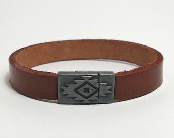 Mens Bracelet Men Leather Bracelet Mens Jewelry Men's Bracelet Husband Gift Boyfriend Gift for Men Bracelet Jewelry Present for Men for Dad